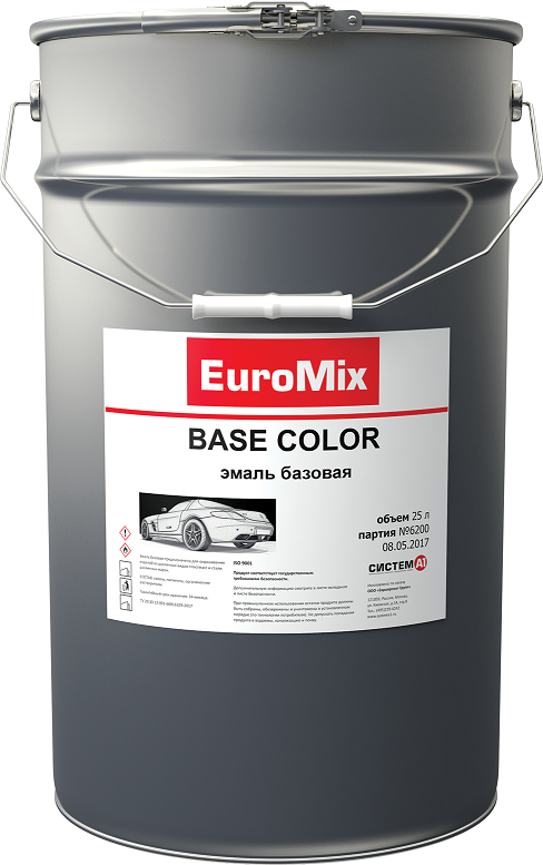 EuroMix Эмаль EUROMIX базовая белое облако 240 (1 л)
