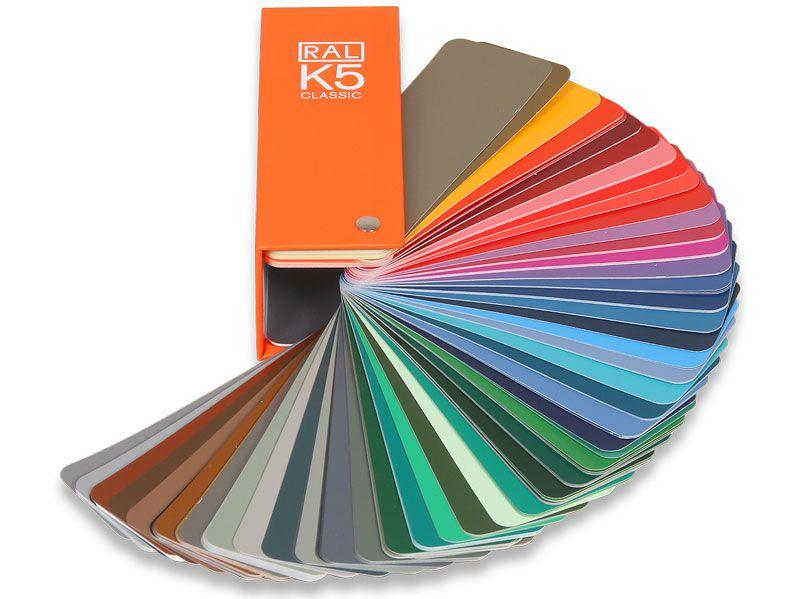 Ecopol Каталог цветов RAL-K5, размер 1 цвета 150 мм на 50 мм
