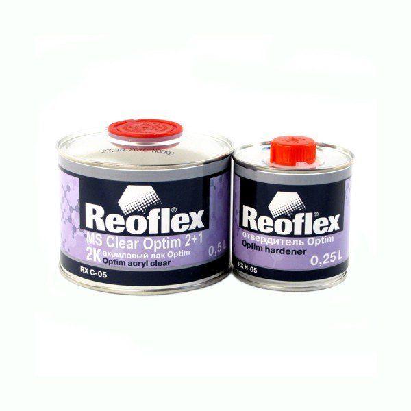 """Reoflex Лак Акриловый 2K """"Optim"""" 2+1, (комплект), 500мл. + 250мл."""