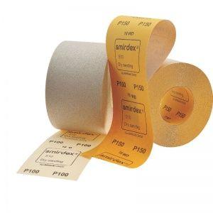 Smirdex P120 Абразивная бумага в рулонах SMIRDEX 510 White, 116 мм x 50 м, (упаковка 1 шт.)