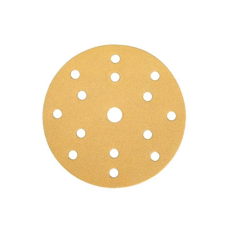 """Mirka GOLD. Абразивный круг на бумажной основе """"липучка"""" 150мм 15 отверстий P320, (упаковка 100 шт.)"""
