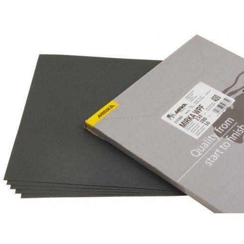 Mirka Водостойкая шлифовальная бумага WPF 230x280мм P400, (упаковка 50 шт.)