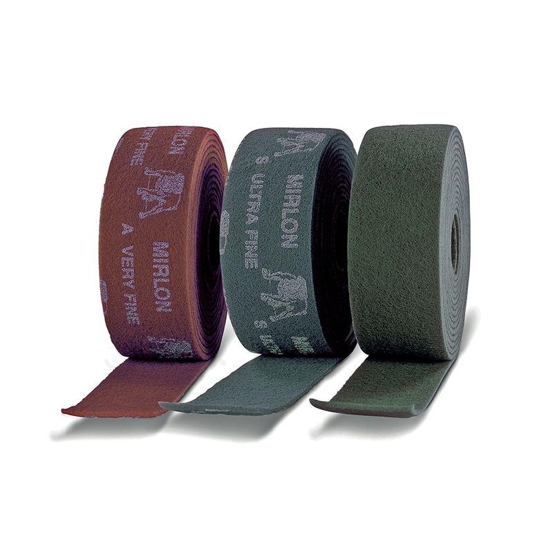 Mirka MIRLON. Абразивный войлок синтетический 115мм x 10m UF 1500 (темно-серый), (упаковка 1 шт.)