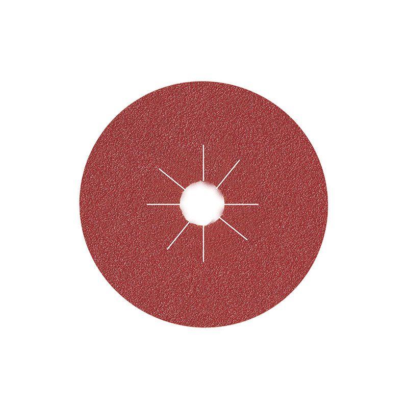 Smirdex Диск фибровый шлифовальный Fiber Discs Alox D 125мм, Р80, (упаковка 25 шт.)