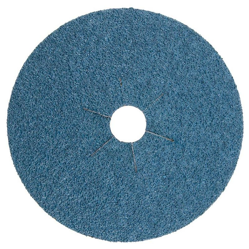Smirdex Диск фибровый шлифовальный Fiber Discs Zirconia D 125мм, Р80, (упаковка 25 шт.)