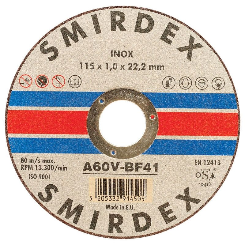 Smirdex Inox Cutting Wheels 125мм x 1мм, (упаковка 25 шт.)